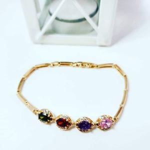 Gorgeous multiple colors Gold Plated Bracelet